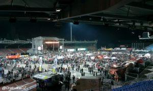 Stadion po koncertě
